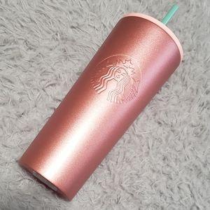 Starbucks Rose Gold Metallic Matte Tumbler 24 oz